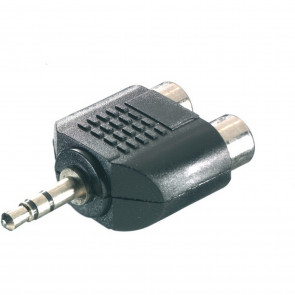 VIVANCO Adapter 3,5 mm Klinke /2 x Cinch