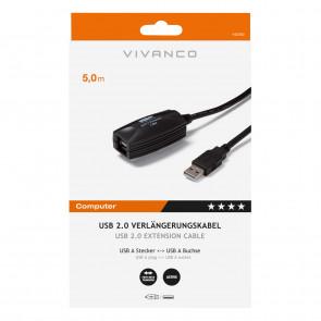 VIVANCO USB Verlängerung 5m Verstärkung