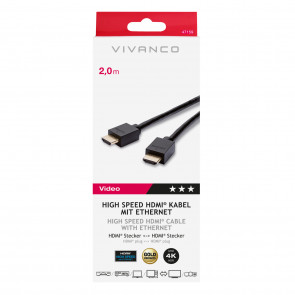 VIVANCO High Speed HDMI-Ethernet 2m