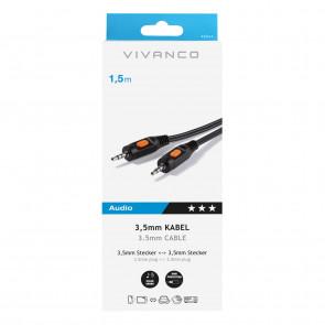 VIVANCO Klinken-Verbindung 3,5mm 1,5m