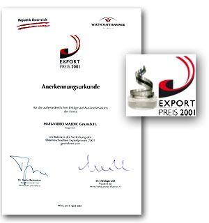 Odlikovani z izvoznim priznanjem Export Preis 2001